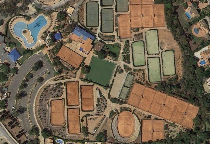 Tennis Centre at La Manga Club Tennis Courts Map Directory