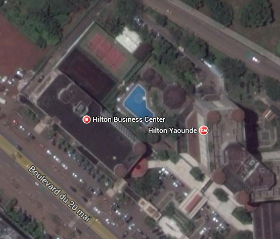 Hilton Yaounde. Cameroon. Tennis court