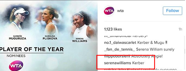 Who Did Serena Vote For In Our Player Of The Year?